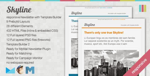 Skyline – Responsive Newsletter with Template Builder