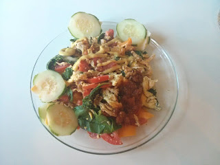 chicken and vegetable scramble