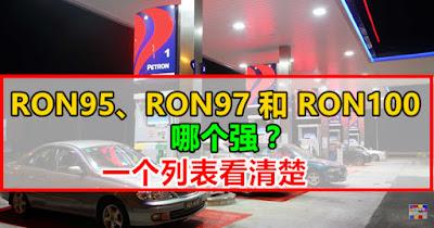 RON95、RON97和RON100 哪个强?