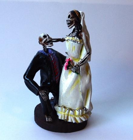 Skeleton Wedding Cake Toppers