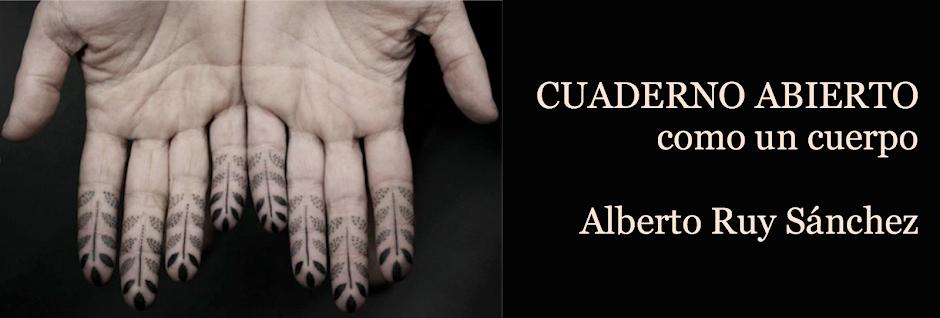 CUADERNO ABIERTO de Alberto RUY SANCHEZ