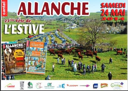 Plaquette Fête de l'estive 2014 à Allanche