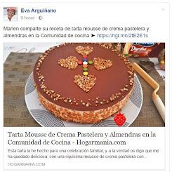 Mi tarta mousse de crema pastelera y almendras publicada por Eva arguiñano en hogarmania