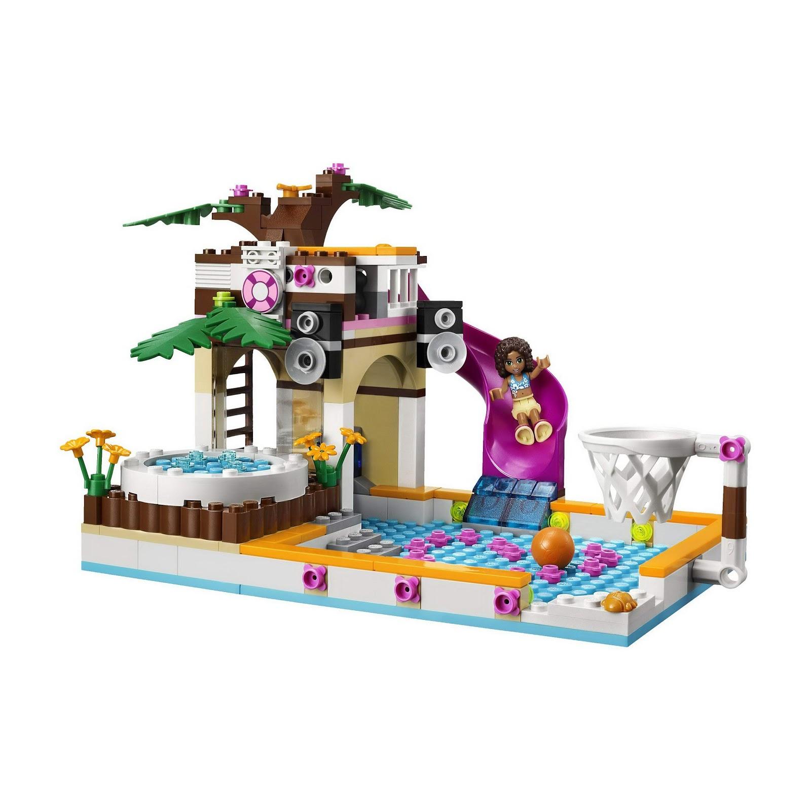 Lego Friends Pool Lego Heartlake City Pool Instructions 41008