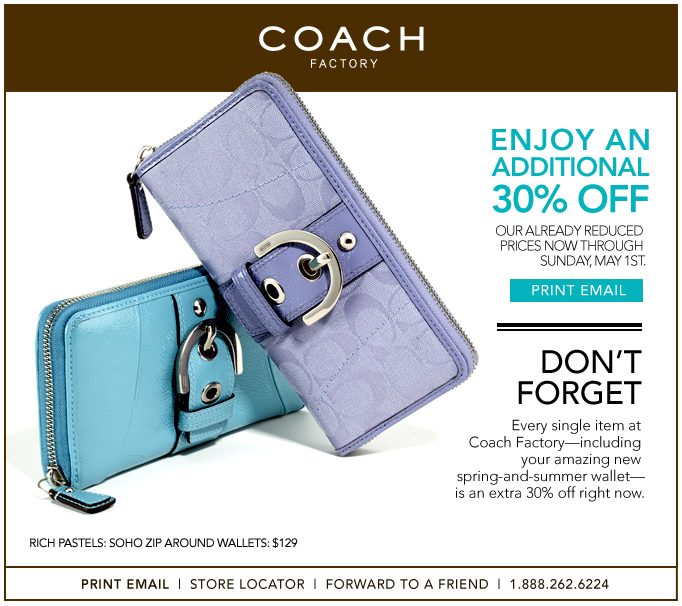 Coach coupons online