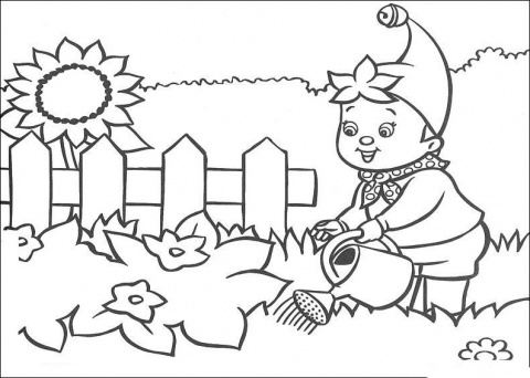 Coloring Pages For Kids Flower Garden Coloring Pages For Kids Flower Garden Coloring Page