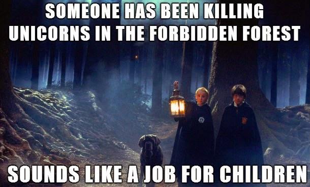 Harry Potter dans la forêt avec Iscomigoo