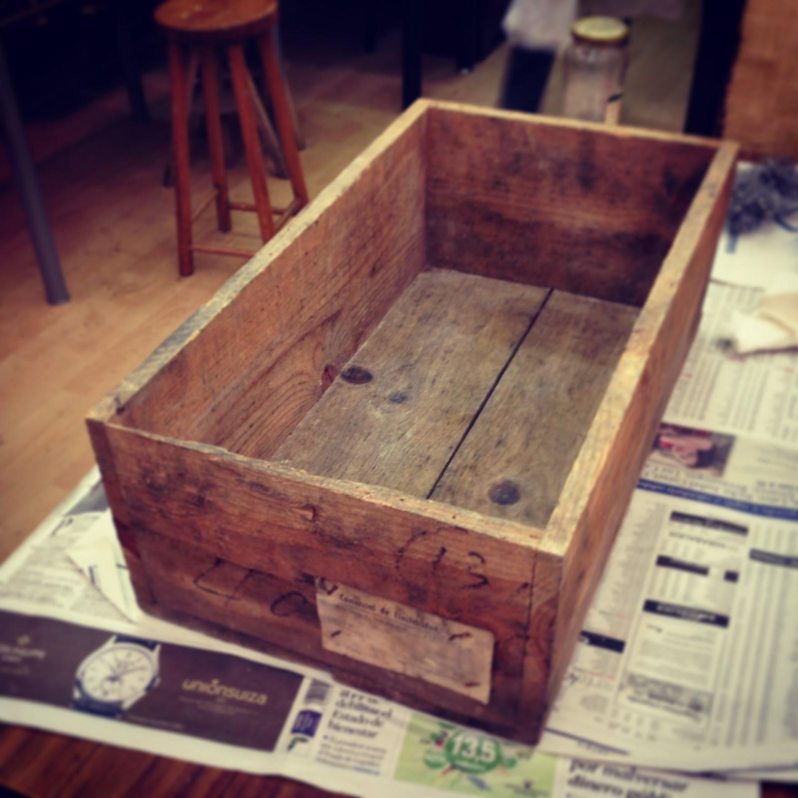 restaurar cajas de madera