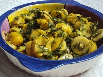 potato salad with dill and mustard dressing...