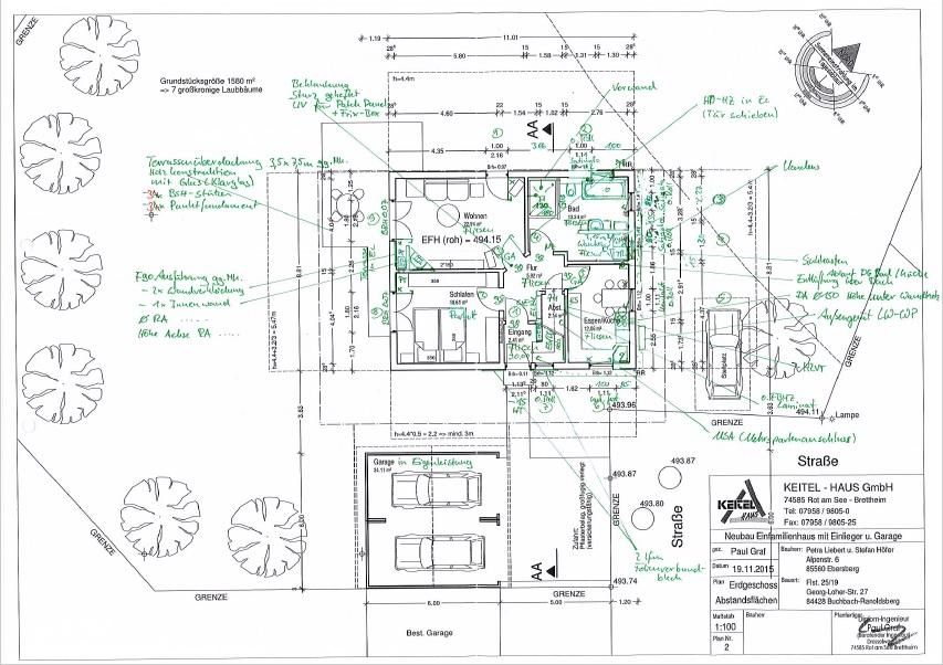 Wir bauen mit keitel haus in markt buchbach aktuelle baupl ne for Bauplan haus