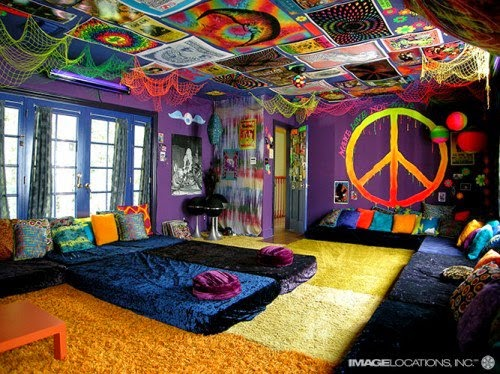 Decoración de Interiores : Habitación Hippie