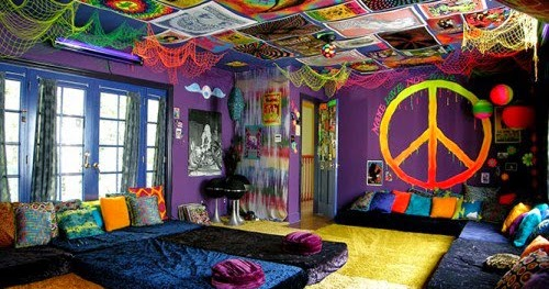 Decoraci n de interiores habitaci n hippie - Decoracion hippie ...