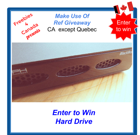 Freeebies 4 Canada Giveaway :Canadian Freebie finders will love this Referral giveaway Sweepstakes for a Glyph black box Hard Drive