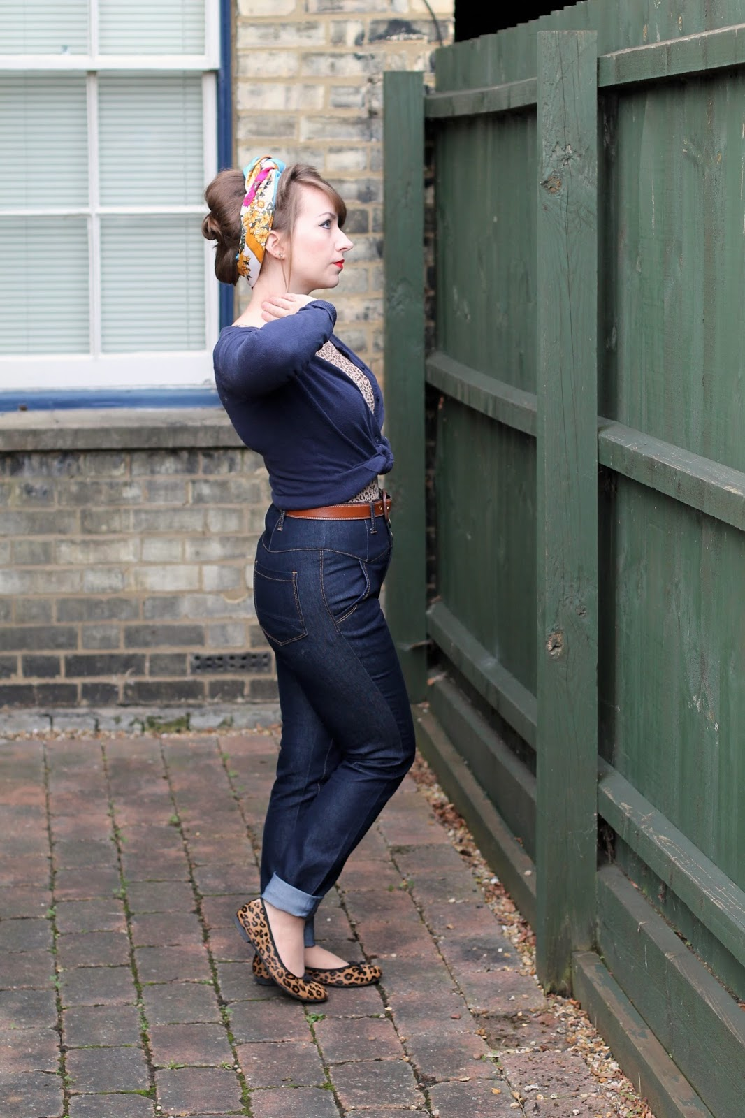 50s casual look with Collectif Rebel Kate jeans