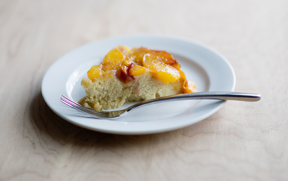 Peach Upside-Down Cake - Little Lady Little City