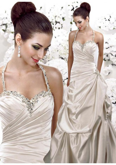 Strapless Beaded Wedding Dress