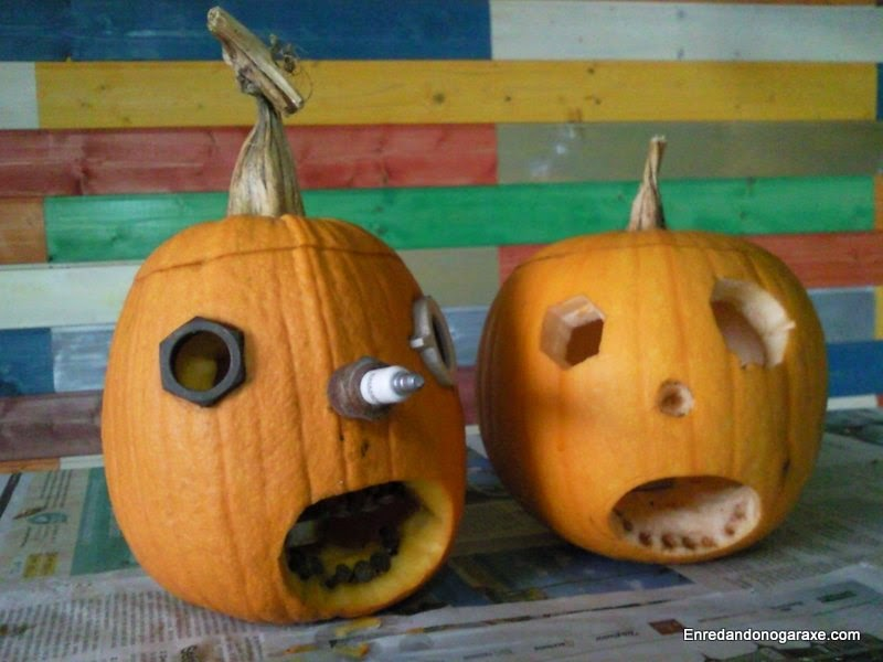 Cómo hacer una calabaza de Halloween sencilla. Enredandonogaraxe.com