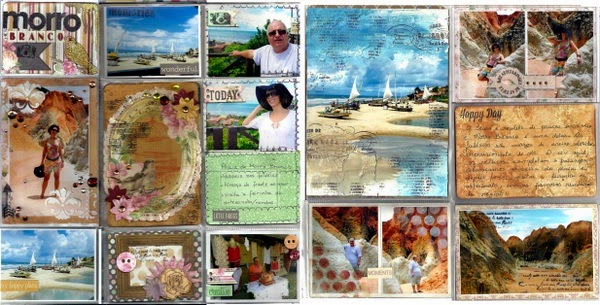 Morro Branco Misc Me 12x12 by Solange Marques for BoBunny featuring the Madeleine collection and Stamps