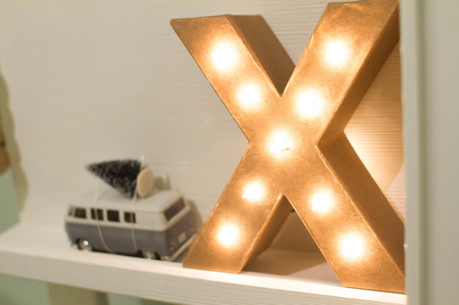 Letters Met Licht : Brenstijl diy letter met licht
