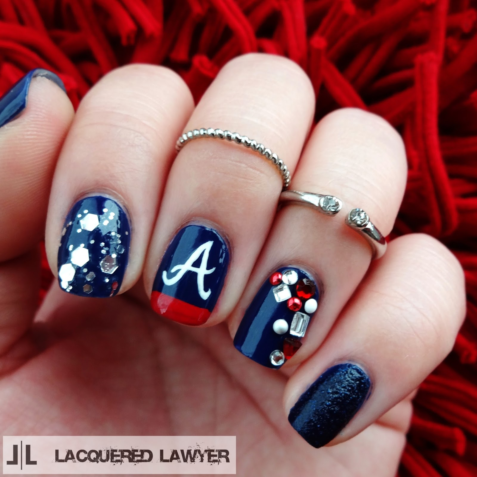 Atlanta Braves Nail Art