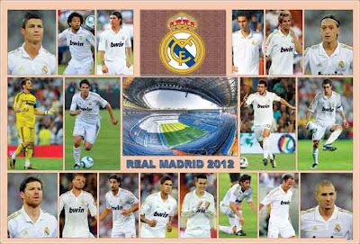Real Madrid 2012 Poster
