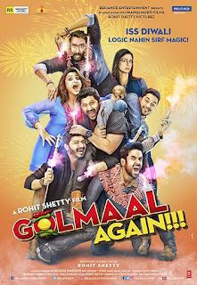 Golmaal Again (2017) Hindi Movie 480p DVDRip [450MB]