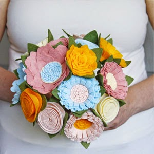 Ma Bicyclette - Buy Handmade - Wedding Planning - Sugar Snap Boutique - Pastel Felt Bouquet