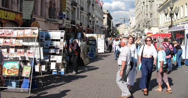 calle Arbat moscú