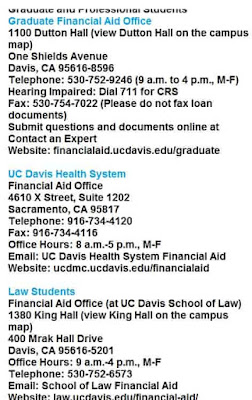 uc davis financial aid office hours
