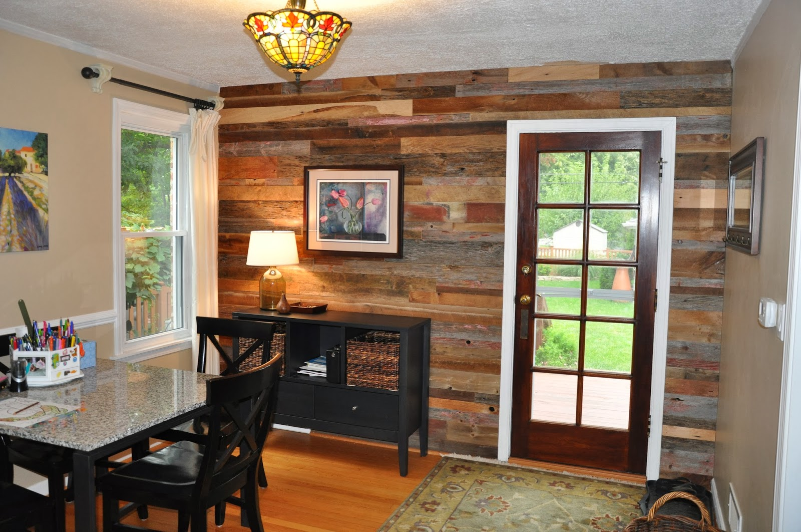 Reclaimed Wood Instead Of Wall Paper