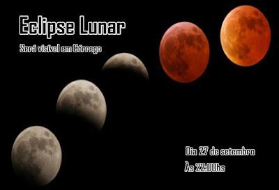 Córrego verá eclipse lunar neste domingo