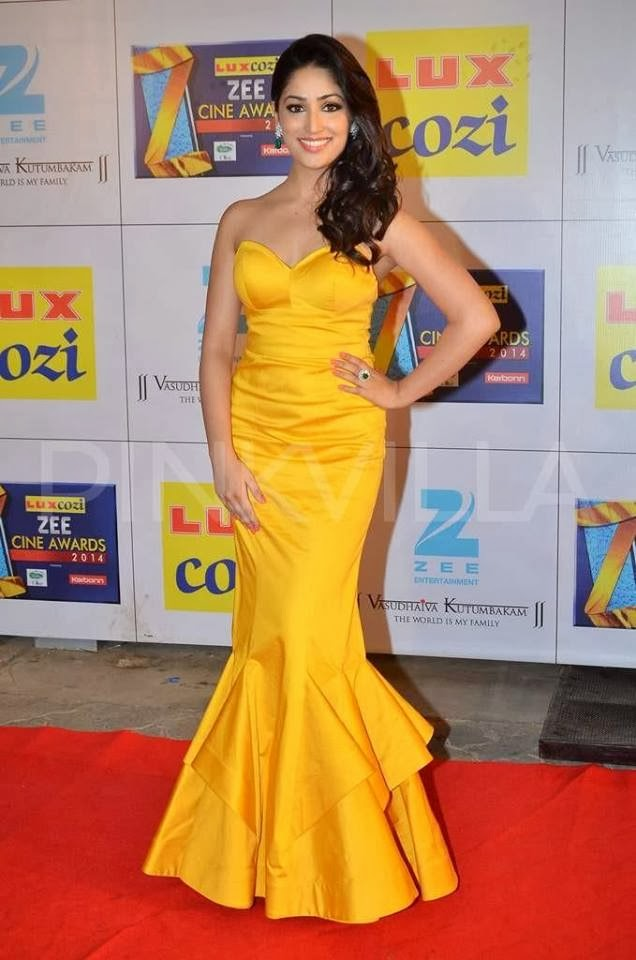 Yami Gautam at Zee Cine Awards 2014 last night