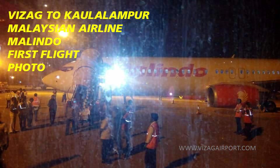 vizag airport malindo vizag  to kaulalampur flight pics
