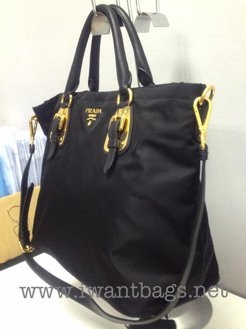 prada nylon handbags black