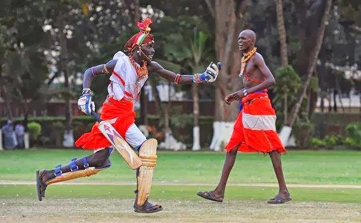 The Maasai Cricket Warriors visited the School and met with Professor Peter Piot to discuss HIV/AIDS prevention, during a trip to the UK where they have been taking part in the Last Man Stands amateur cricket world championships.