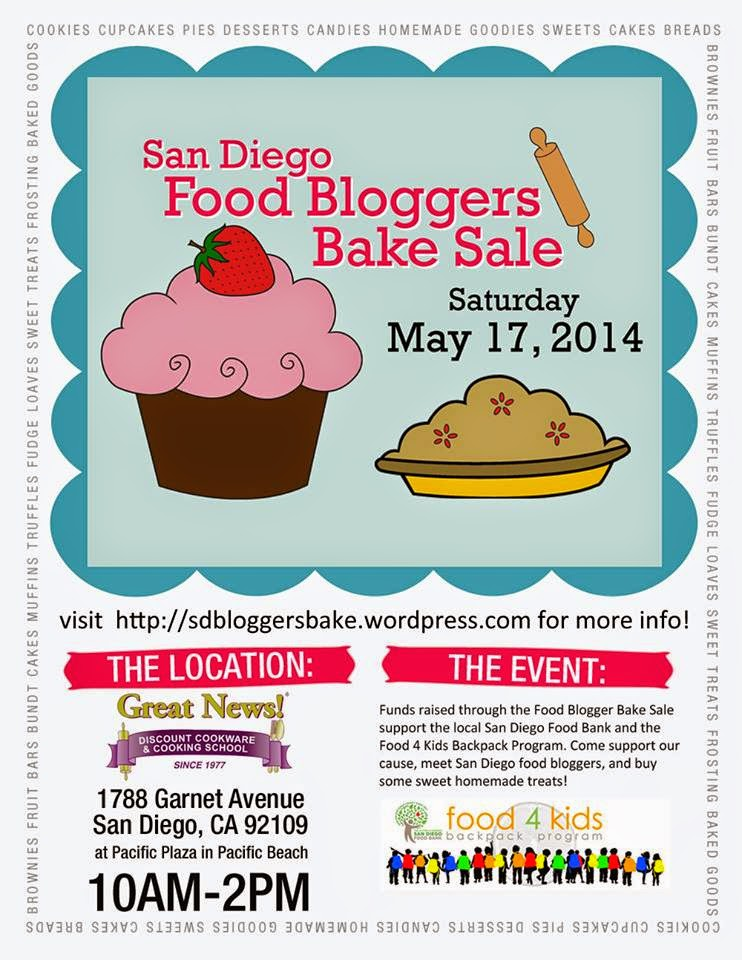 San Diego Food Bloggers' Bake Sale 2014 by BeckyCharms.com