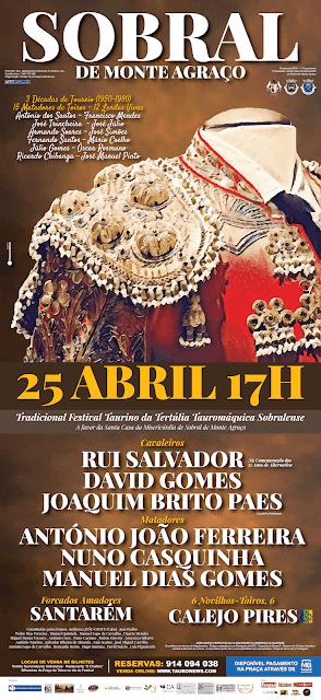 SOBRAL DE MONTE  AGRAÇO (PORTUGAL) 25-04-2019 FESTIVAL DE HOMENAGEM A VARIOS MATADORES DE TOUROS.