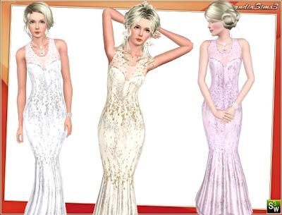 Mermaid Wedding Dress by Lorandia Sims LorandiaSims3_Clothing_L_303