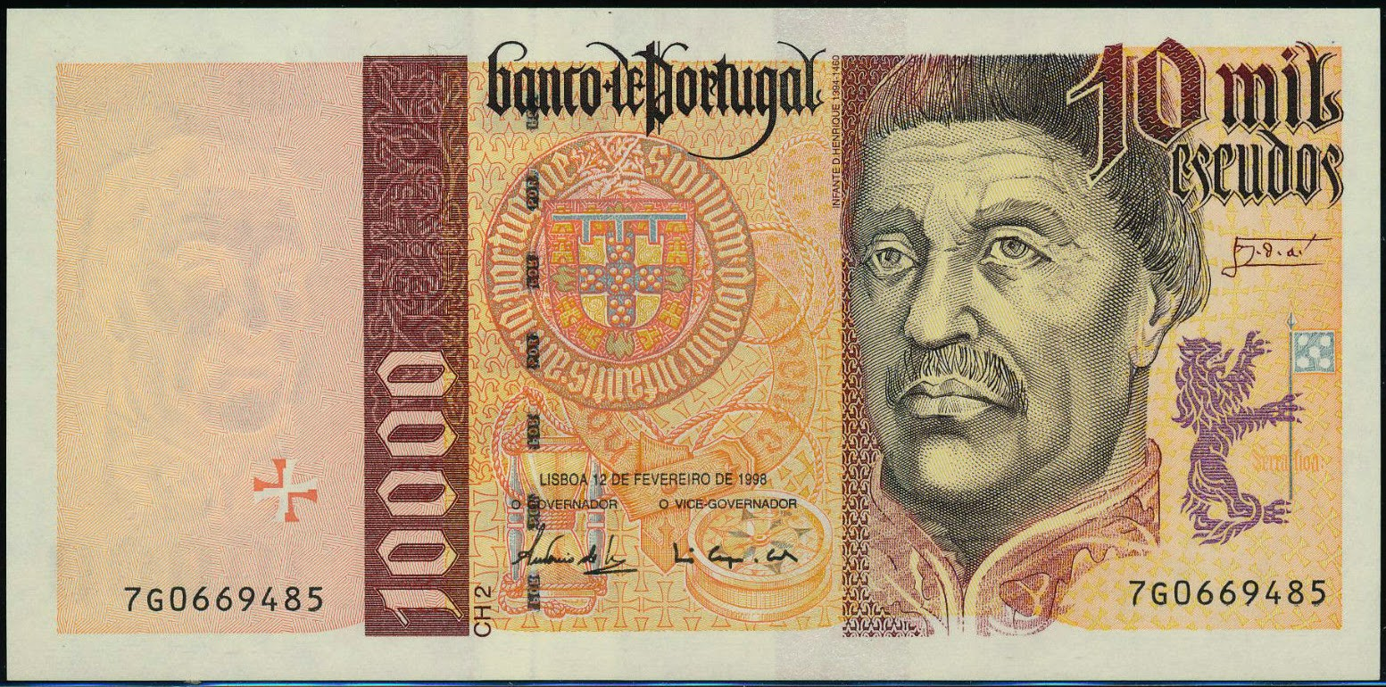 Portugal Banknotes 10000 Escudos banknote 1998 Prince Henry the Navigator