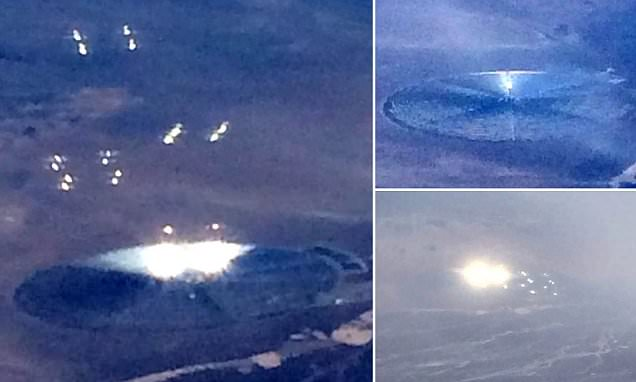 American Airlines Passenger Takes Photos of 'UFO' Giving off Bright Lights and Orbs Near 'Area 51'