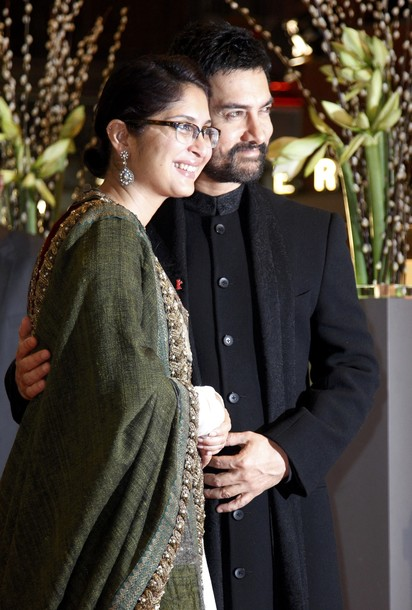 Aamir Khan and Kiran Rao at the Premiere of 'True Grit'