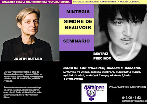 11 DE FEBRERO: SEMINARIO SIMONE DE BEAUVOIR: JUDITH BUTLER