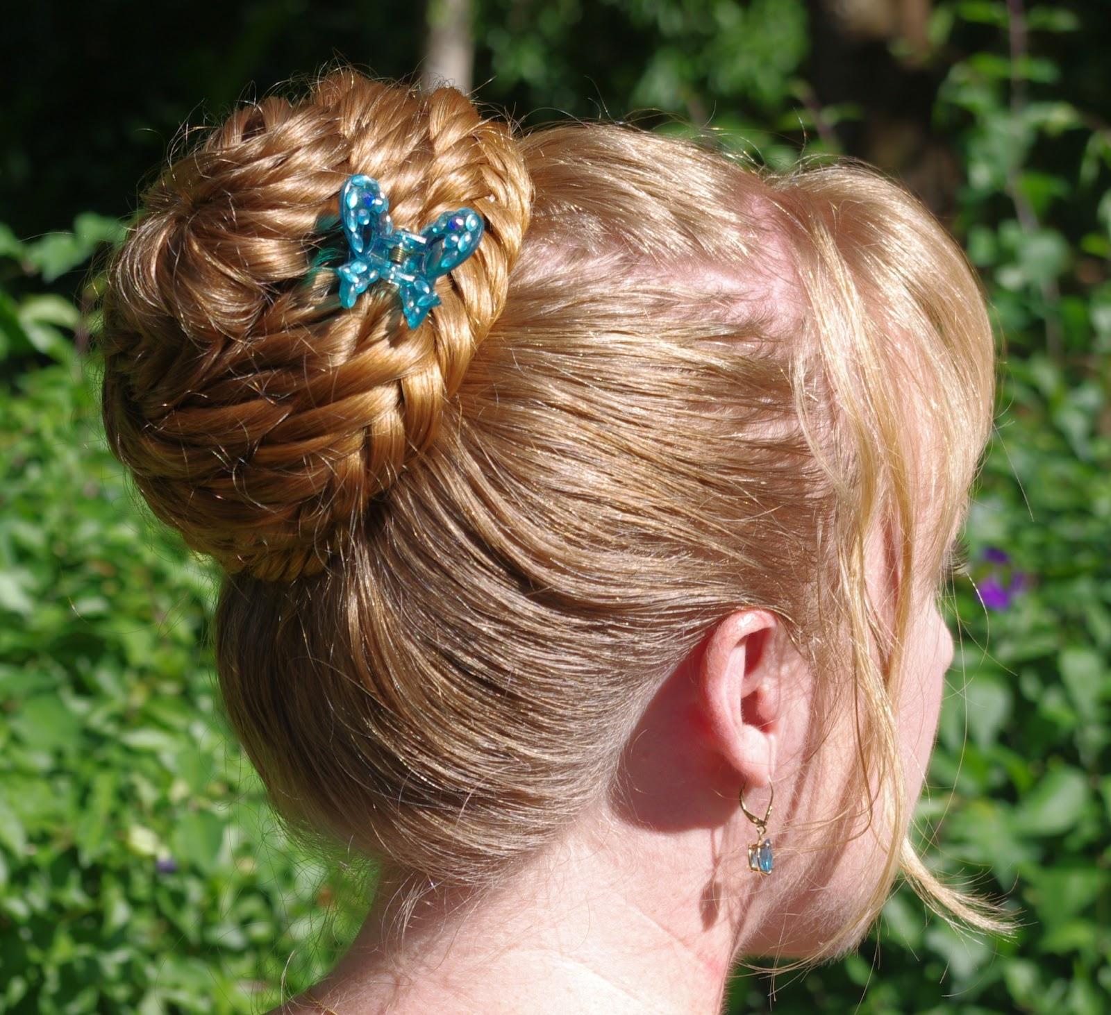fishtail braid in a bun