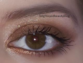 Eye look done using the Rimmel Glam'Eyes HD eyeshadow quad in 002 English Oak