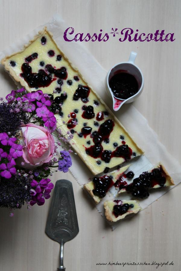 Ricotta Cassis Tarte Foodblog Himbeerprinzesschen Tortenheber Blumen