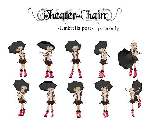 Theater Chain+: Umbrella pose