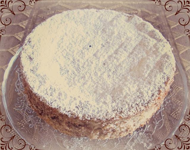 torta angel food con scaglie di arancio e cioccolato
