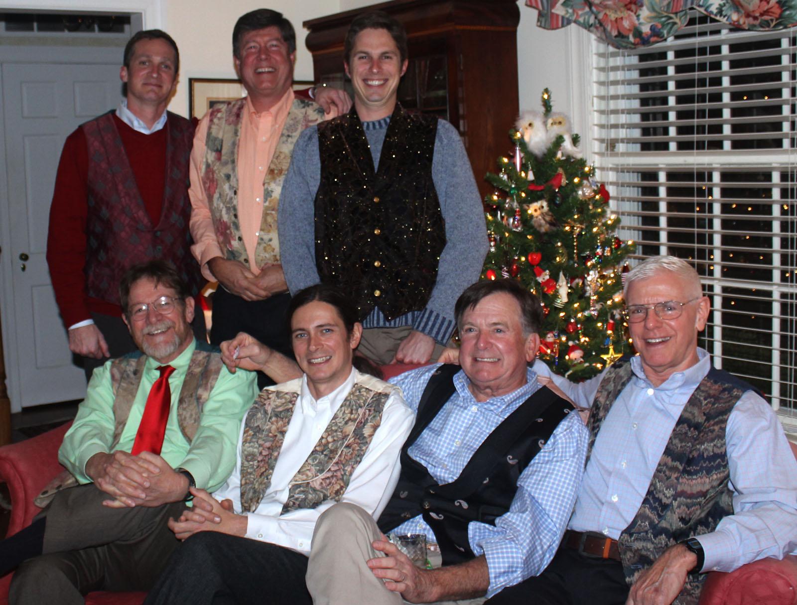 the boys and our pollyanna vests - Christmas Pollyanna