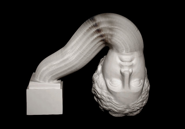 Green Pear Diaries, Li Hongbo, esculturas flexibles, papel, statues in motion