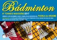 """6º TORNEO DE BÁDMINTON """"NAVIDAD 2017"""""""